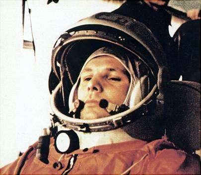 Jurij Gagarin pred štartom