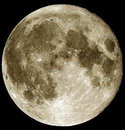 Pohľad na Mesiac
