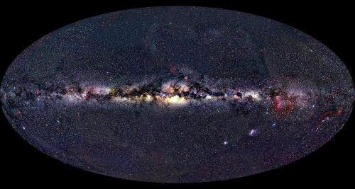 zložená snímka celej oblohy. Autor: Alex Mellinger 2000