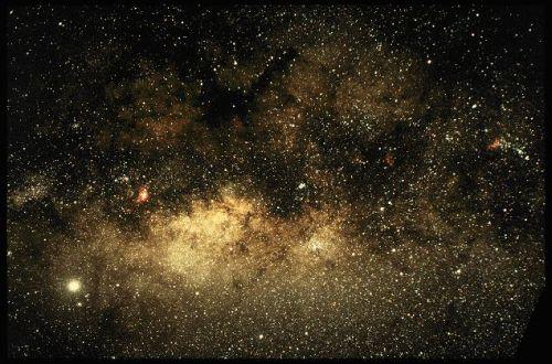 pohľad do stredu Mliečnej cesty