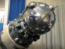 kópia lode Vostok v múzeu kozmonautiky